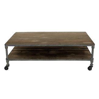wood top coffee table metal legs foter. Black Bedroom Furniture Sets. Home Design Ideas