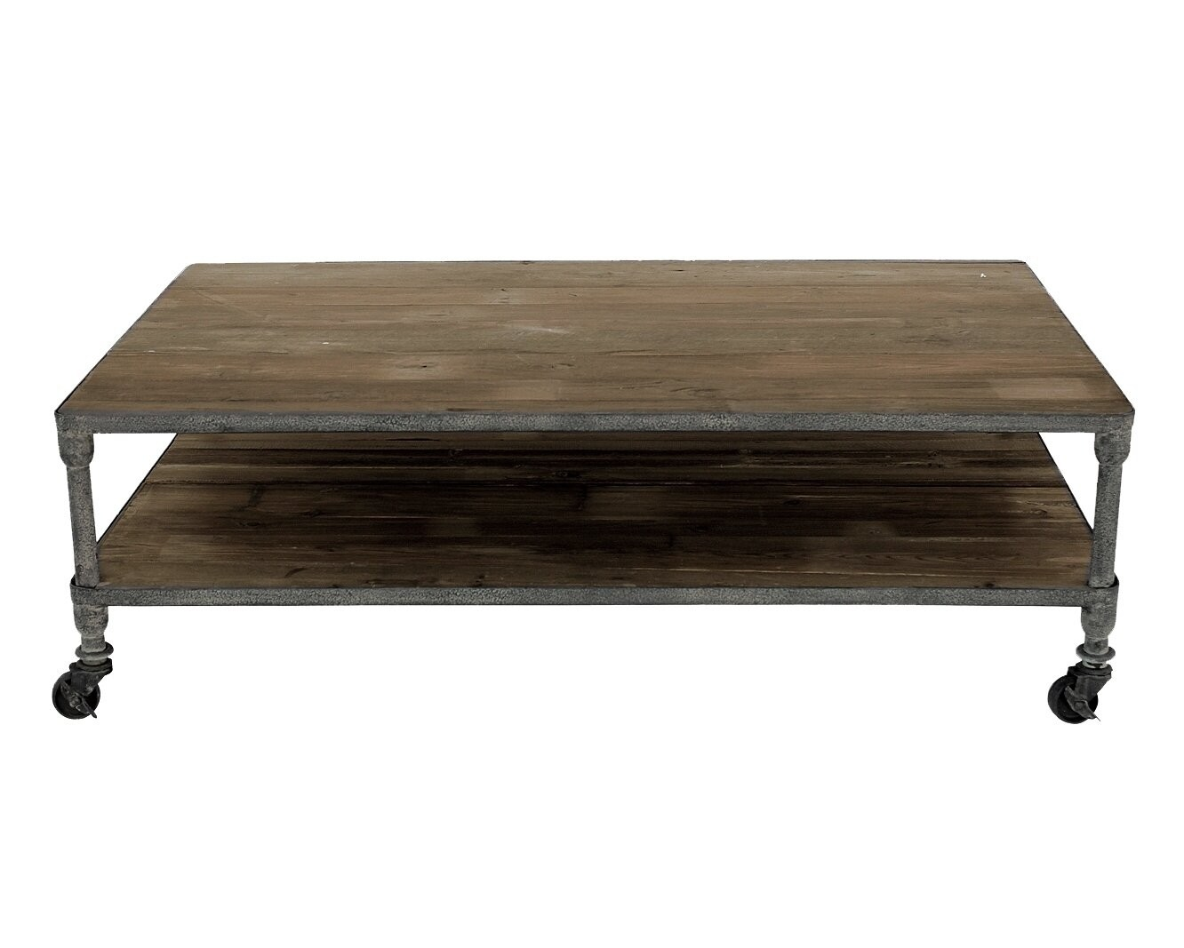 Incroyable Rustic Gray Iron And Reclaimed Wood Coffee Table