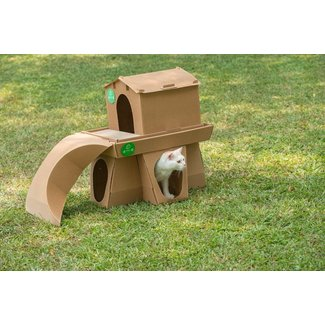 Simple Corrugated Cardboard Decorative Kitty Castle