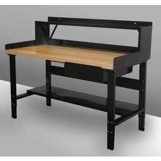 Simple Rolled Steel Workbench Lower Shelf