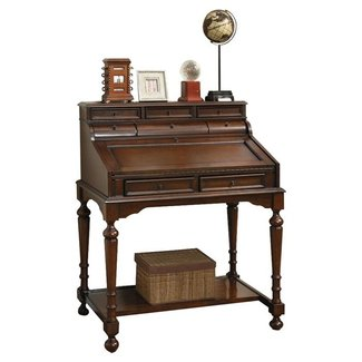 Smooth Wooden Secretary Desk
