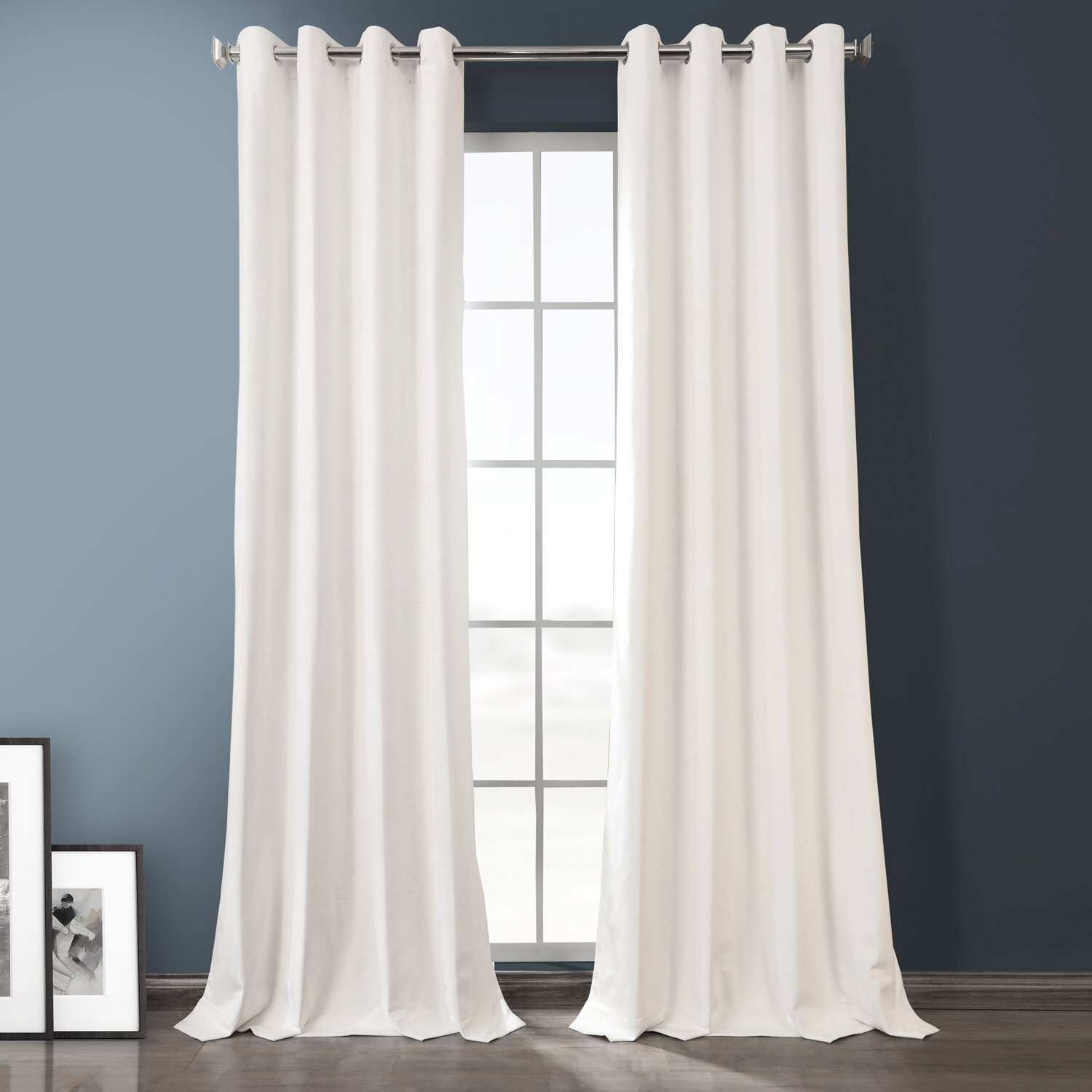 Solid Blackout Thermal Grommet 2 Curtains / Drapes (Set of 2)