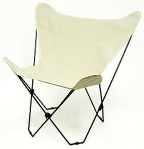 Solid Natural Color Canvas Butterfly Chair Cover Only