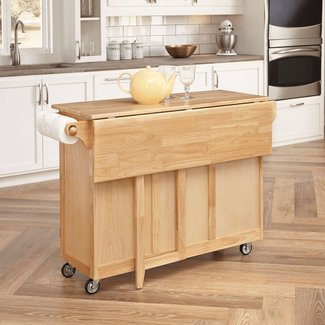 Solid Wood Butcher Block Kitchen Island