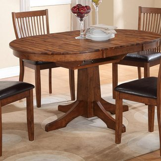 Round Dining Table With Leaf Extension - Ideas on Foter