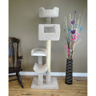 Solid Wood Deluxe Cat Condo