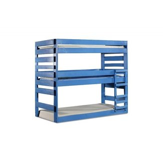 Solid Wood Extra Long Twin Triple Bunk Bed
