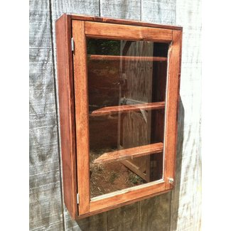 Solid Wood Wall Mounted Curio Cabinet