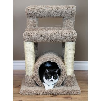 Space Saving Wooden Cat Condo