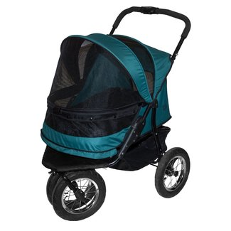 Steel and Polyester No-Zip Double Pet Stroller