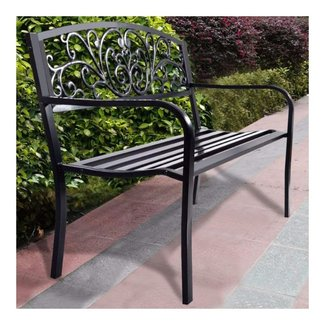 Steel Patio Park Garden Bench