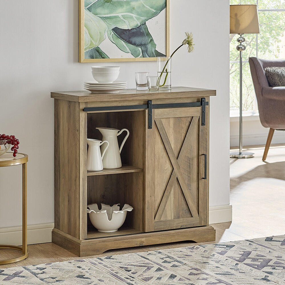 "Stotfold Rustic Farmhouse 32"" Wide Server"