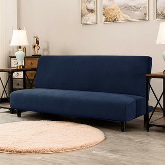 Stretch Jacquard Box Cushion Futon Slipcover