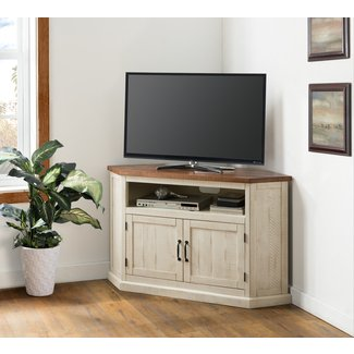 Tacoma Solid Wood Corner TV Stand for TVs up to 55 inches