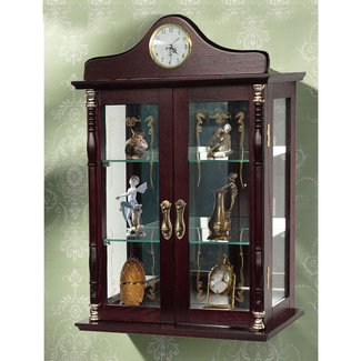 Tempered Glass Wall Mounted Curio Cabinet