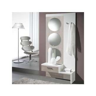 Tiered Mirrored Floating Shelf