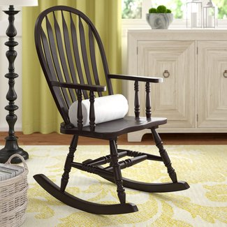 Traditional Rocking Chair With Arms