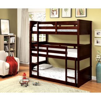 Transitional Style Wood Twin Over Bunk Bed