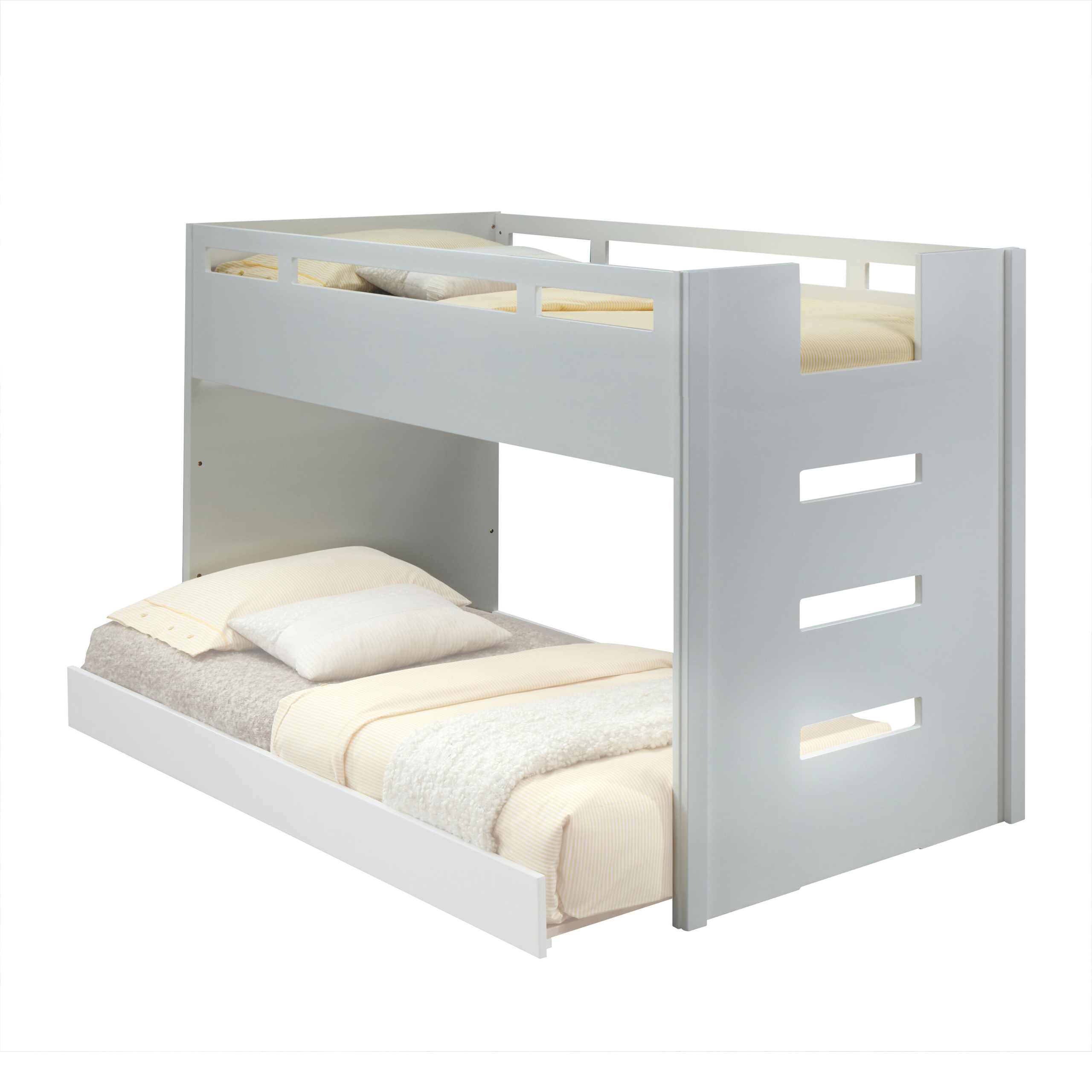 Twin Over Twin Loft Bed With Rails