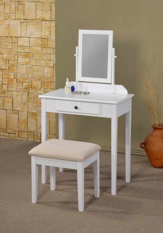 Two Piece Vanity Set With Mirror