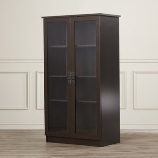 Tall Bookcase With Glass Doors Foter