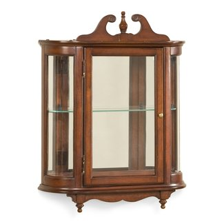 Wall Monted Curio Cabinet With Mirored Back