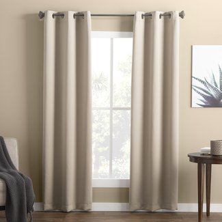Wayfair Basics Solid Blackout Thermal Grommet Single Curtain Panel