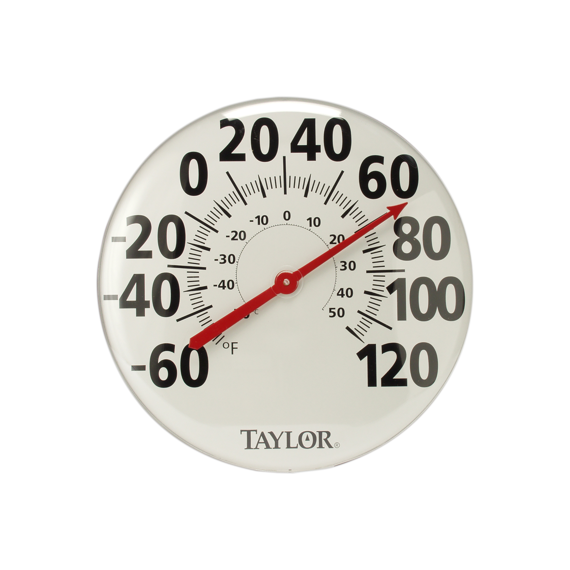 OUTDOOR THERMOMETER with Metal look ASSORTED COLORS