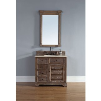 White Oak Wood Single Vanity Set
