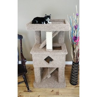 Wood Cat Play Gym With Sisal Rope