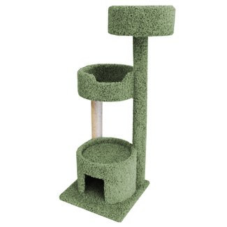 Wooden Cat Tree With Carpet Padding