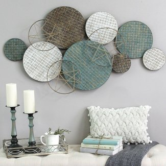 Woven Texture Metal Plate Wall Decor