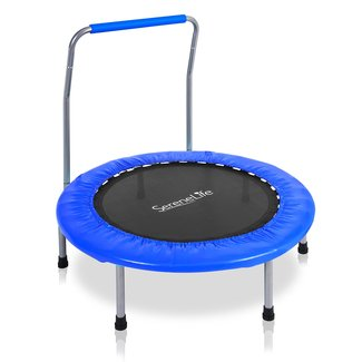 3.3' Foldable Round Fitness Trampoline with Handlebar