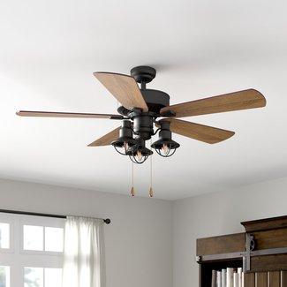 "52"" Ravello 5 Blade Ceiling Fan, Light Kit Included"