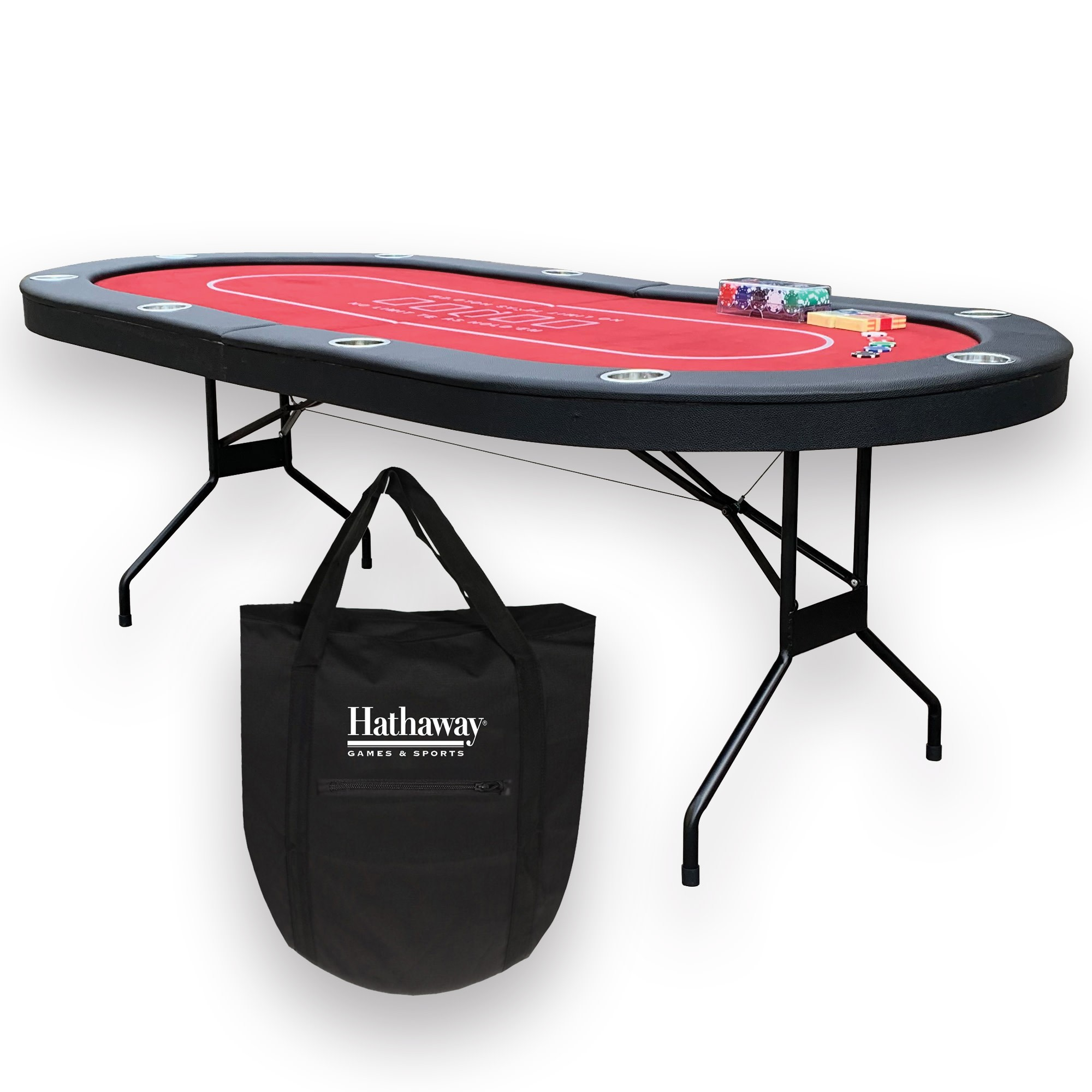 "84"" Fourth Street Texas Hold'em Poker Table"