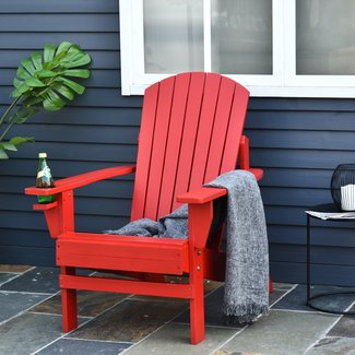 Abilene Outdoor Solid Wood Adirondack Chair