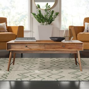 Andersen Solid Wood Coffee Table with Storage