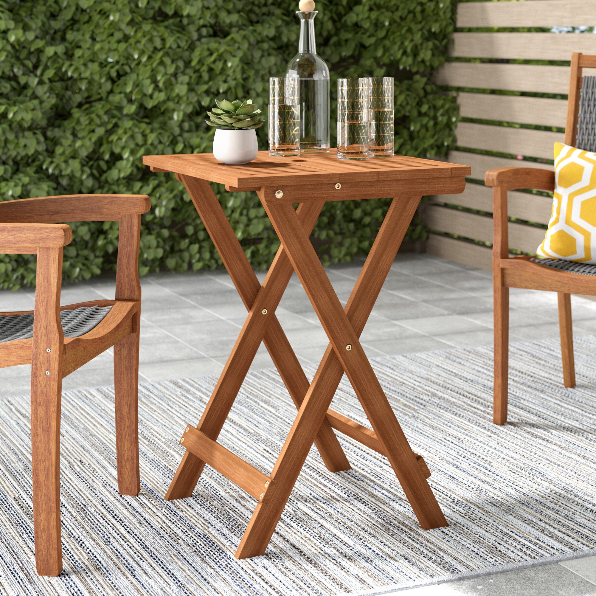 Arianna Folding Solid Wood Bistro Table
