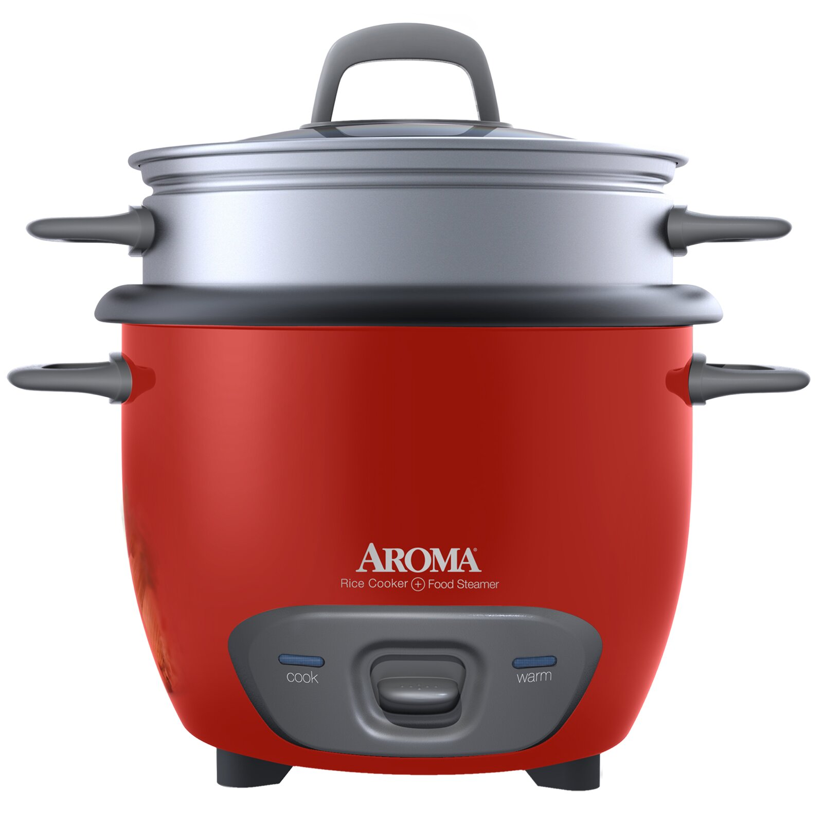 Aroma 14-Cup Pot Style Rice Cooker and Food Steamer Set