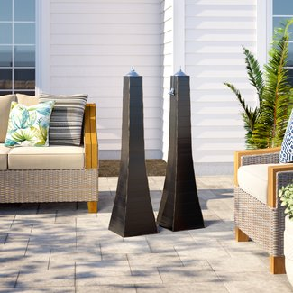 Aronwold Pyramid Garden Torch (Set of 2)