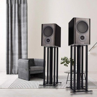 Black Composite Boardmaterial Speaker Stand