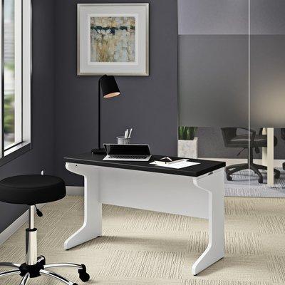 Black Elegant Manufactured Wood Desk
