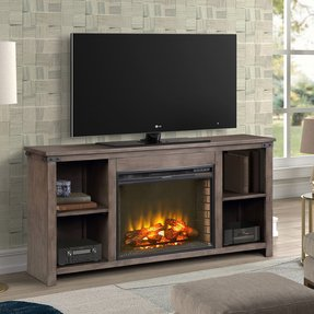 "Bletchley TV Stand for TVs up to 70"" with Electric Fireplace Included"