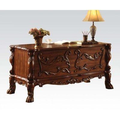 Brown Elegant Solid Wood Executive Desk