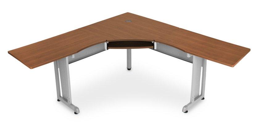 Brown Simple Manufactured Wood Corner Desk