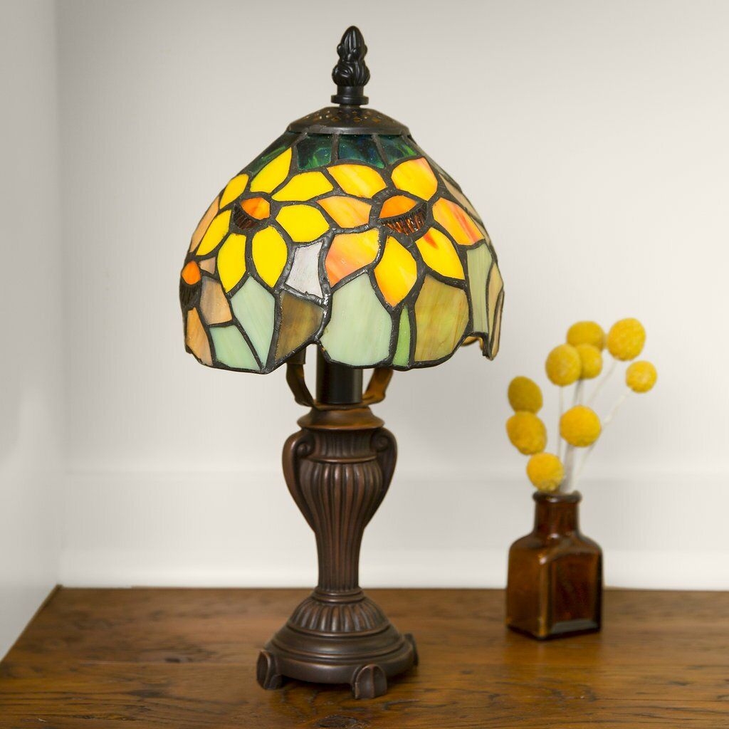 "Crary Sunflower Blossoms 12"" Table Lamp"