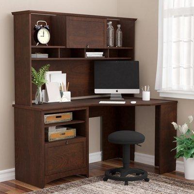 Dark Brown Classic Manufactured Wood Corner Desk
