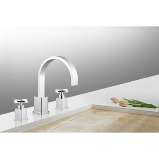Emmy Widespread Bathroom Faucet with Drain Assembly