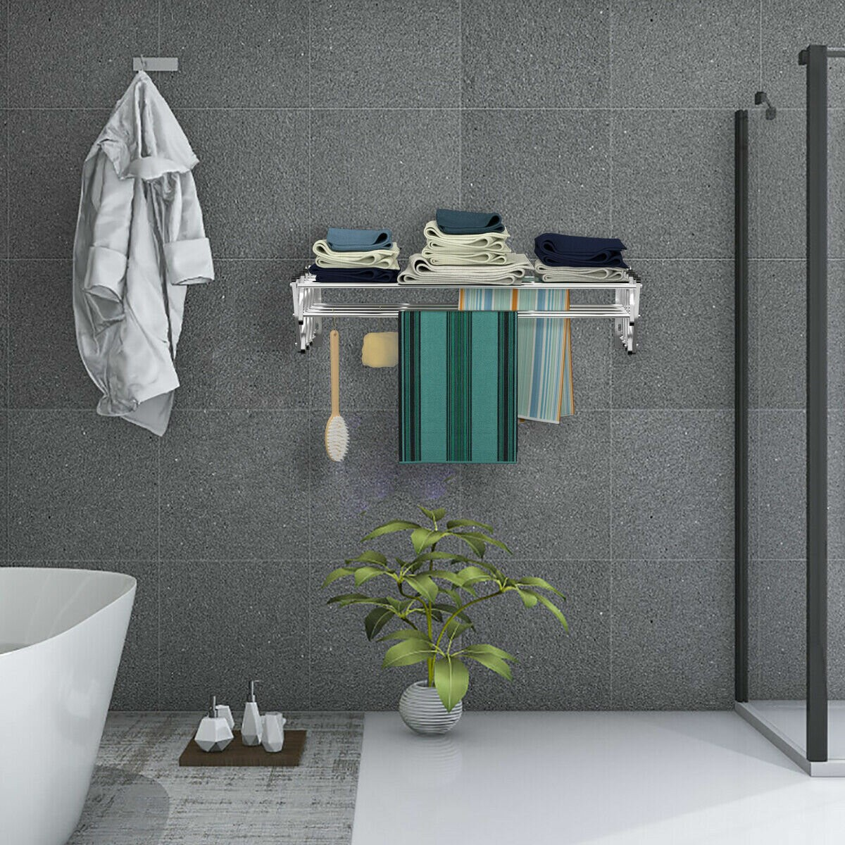 Expandable Clothes Wall-Mounted Drying Rack