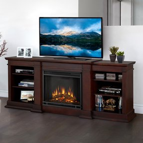"Fresno TV Stand for TVs up to 78"" with Electric Fireplace Included"